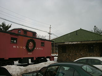 Pompton Lakes, New Jersey - Pompton Lakes train station, which was served by the New York, Susquehanna and Western Railway.