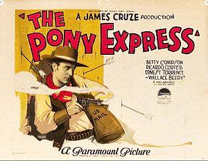 The Pony Express (1925 film) - Lobby card