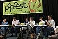 Popfest 2014 Programmpräsentation 12 Gabriela Hegedüs Andreas Mailath-Pokorny Christoph Möderndorfer Robert Rotifer Violetta Parisini Wolfgang Schlögl.jpg