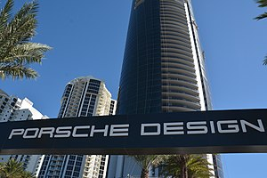 Porsche Design Tower - Porsche Design Tower near completion in late 2016