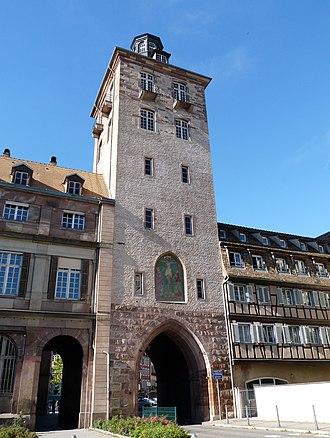 Hôpital civil, Strasbourg - Porte de l'hôpital (1340)