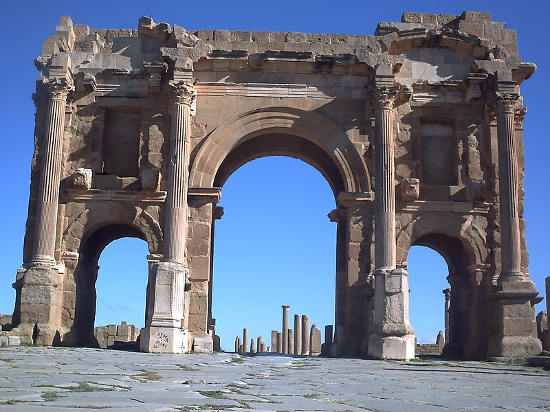 Римски стил градње 800px-Porte_timgad