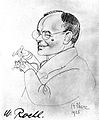 Portrait caricature of Wilhelm Roehl by A. Frenz, 1925 Wellcome L0002479.jpg