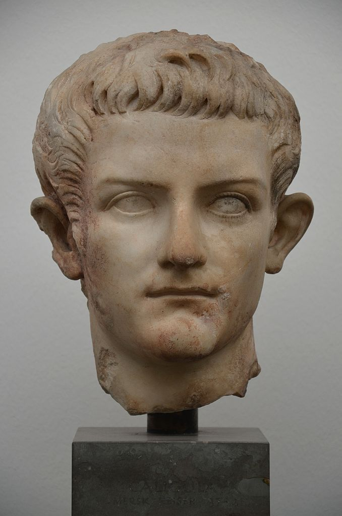 File:Portrait of Caligula (with traces of polychromy), AD 37-41, Ny Carlsberg Glyptotek ...