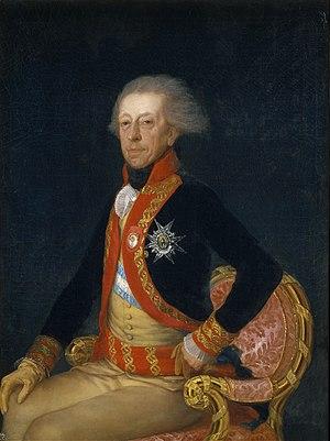 Captain general (Spain) - Image: Portrait of General Antonio Ricardos by Goya
