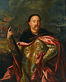 Portrait of John III Sobieski with the battle at the background - Google Art Project.jpg