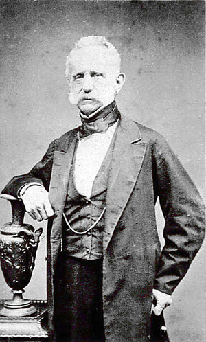 Tomás Cipriano de Mosquera - Photograph of Mosquera in civilian attire.