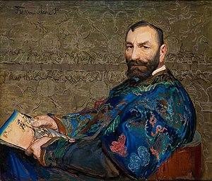 """Manggha - Feliks Jasieński aka """"Manggha"""", the founder of the collection (Portrait by Leon Wyczółkowski, 1911)"""