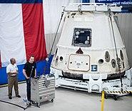 Post-flight Dragon capsule