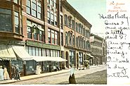 PostcardNorwichCTDowntownBostonStore1906