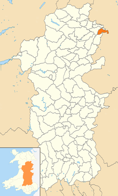 Powys Wales communities - Bausley with Criggion locator.png