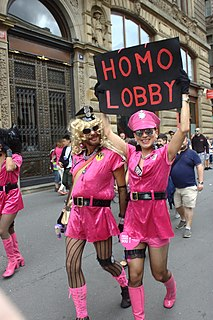Homosexual agenda Disparaging term used by opponents of gay rights activism