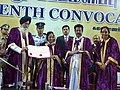 Pratibha Devisingh Patil being presented the Degree of Doctor of Letters (Honoris Causa) from the Chancellor, Mother Theresa women's University.jpg