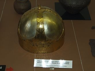 Dolné Semerovce - A helmet from Migration Period (6th century AD) discovered in Dolné Semerovce