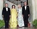 President George H. W. Bush and First Lady Barbara Bush with Korean President Roh Tae-woo and Kim Ok-suk.jpg