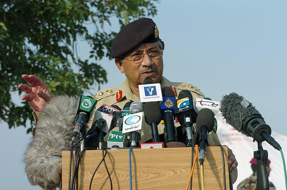 President Musharraf, 2005 (051015-N-8796S-072 DOD) (2011599971)