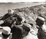 President Nasser's visit to the Suez front with Egypt's top military commanders during the War of Attrition.jpg
