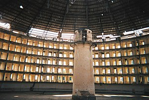 Electronic tagging - Panopticon: Presidio Modelo prison, inside one of the buildings, 2005