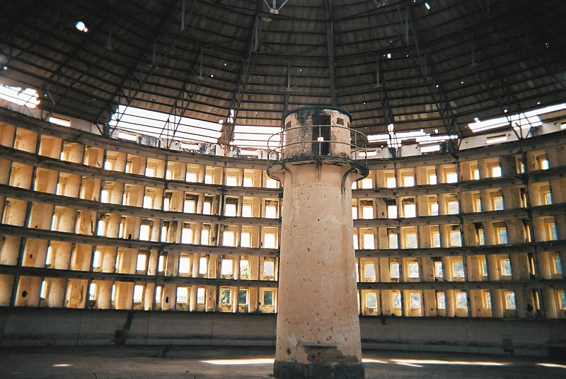 A panopticon at the Presidio Modelo, Cuba. Courtesy of Wikipedia.