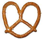 Factory produced hard pretzel