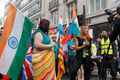 Pride in London 2016 - A London Live reporter interviews the flag bearer for India before the parade.png