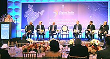 Prime Minister Narendra Modi at the stage for Digital India Dinner.jpg