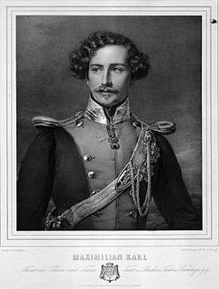 Maximilian Karl, 6th Prince of Thurn and Taxis Prince of Thurn and Taxis