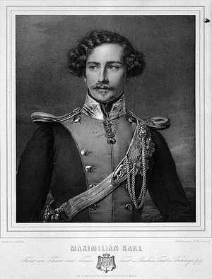 Maximilian Karl, 6th Prince of Thurn and Taxis - Image: Prince Maximilian Karl von Thurn und Taxis
