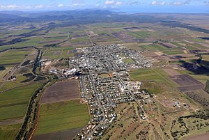 Proserpine, Queensland - Aerial view of Proserpine in August 2017
