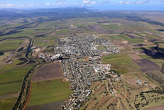 Proserpine, Queensland - Aerial view of Proserpine in August 2017