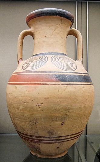 Protogeometric style - Proto-Geometric Amphora c.975–950 BC. Athens, now British Museum.