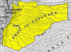 Casanare Province - Map, 1810
