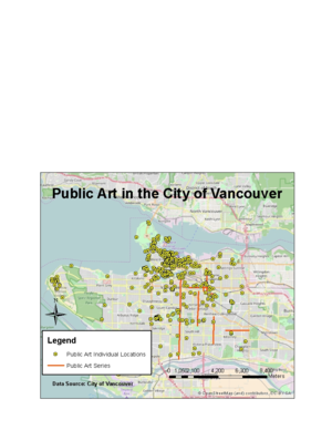 Public art in Vancouver - Map of public art locations in the City of Vancouver.
