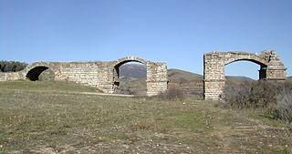 Alconétar Bridge cultural property in Garrovillas de Alconétar, Spain