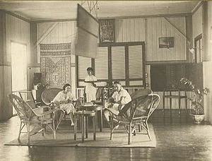 Punkah - A punkah in the house of French colonials in Indochina c. 1930