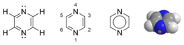 Pyrazine chemical structure.png