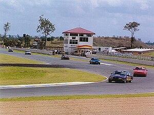 Queensland Raceway - Turn 1 and Dick Johnson Straight