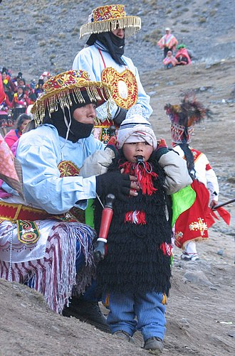 Indigenous peoples in Peru - Dancers at Quyllurit'i, an indigenous festival in Peru