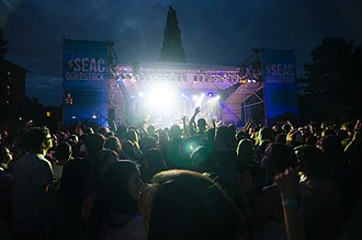 Seattle University - music festival (2014) at Seattle U. included Macklemore, Schoolboy Q, Sea Wolf, Best Coast, and Brother Ali.