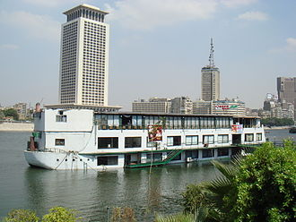 Scott Long - The Queen Boat floating discotheque in the Nile in Cairo