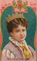 Queen of Portugal, from World's Sovereigns series (N34) for Allen & Ginter Cigarettes, 1889.png