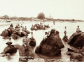 Queensland State Archives 5169 Natives of Badu Mulgrave Island on Rocks at Greenwell 1898.png