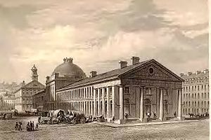 Alexander Parris - Quincy Market in 1830, Boston, Massachusetts