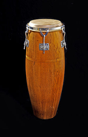 Quinto (drum) - Oak Gon Bop quinto drum c. 1976.