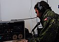 Radio Gureshk -- ISAF soldier Nasrullah Sherzai broadcasts news, prayers and music to Gureshk District, Helmand.jpg
