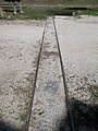 Rails to the river for boat transportation on the Primate's Island, Esztergom, Hungary.jpg