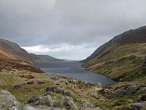 Snowdonia - Rain coming in over Llyn Cowlyd north of Capel Curig