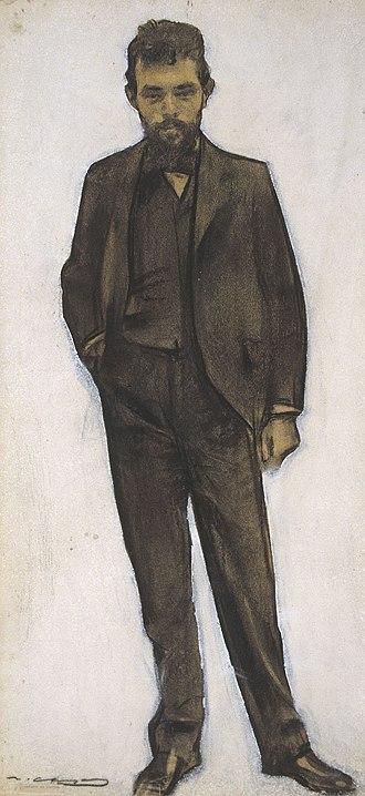 Amadeu Vives i Roig - Amadeu Vives seen by Ramon Casas (MNAC).