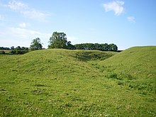 Ramparts on the NW side of Warham Fort - geograph.org.uk - 1403867.jpg