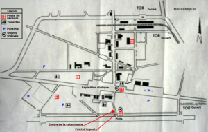Ramstein air show disaster - A map of the airshow facilities and accident details